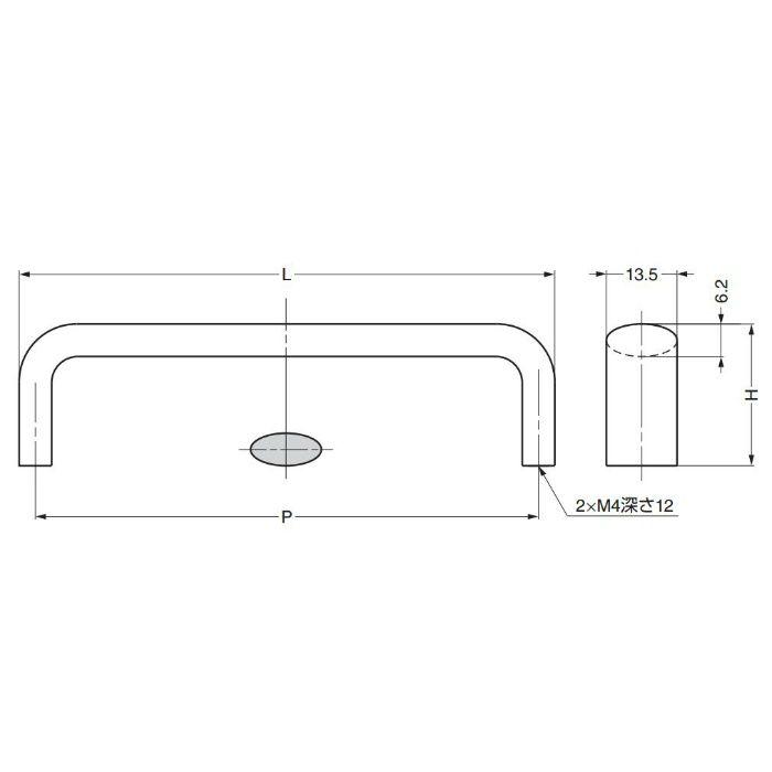 ランプ印ハンドルDLB型 DLB-128PB 100-907-408