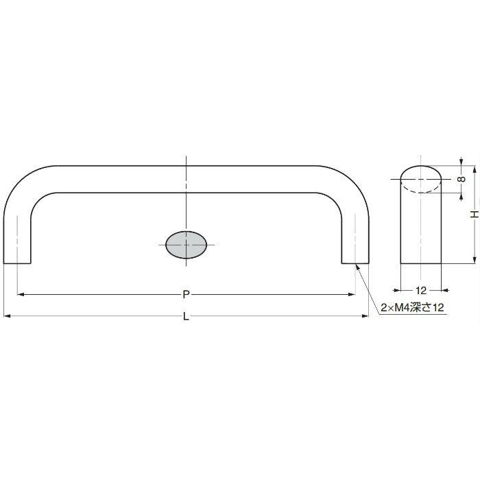 ランプ印ハンドルKK-H型 KK-H80SNI 100-012-887