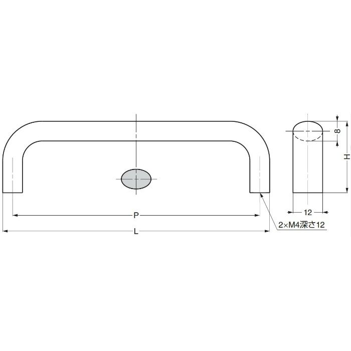 ランプ印ハンドルKK-H型 KK-H80SSG 100-012-888