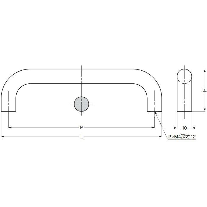 ランプ印ハンドルKK-M型 KK-M80SNI 100-012-896