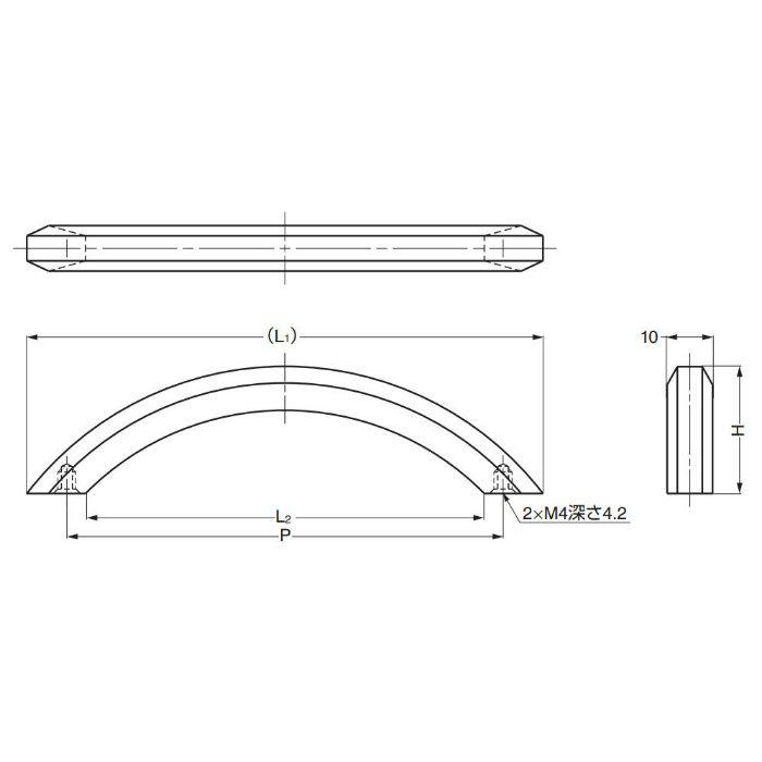 真鍮ハンドルK281型 K281-96BN 100-012-781