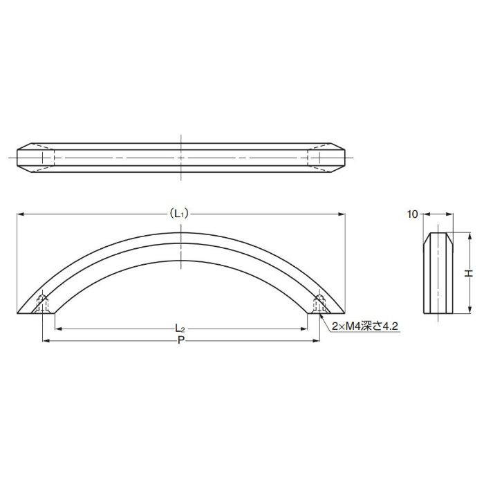真鍮ハンドルK281型 K281-128SN 100-012-786