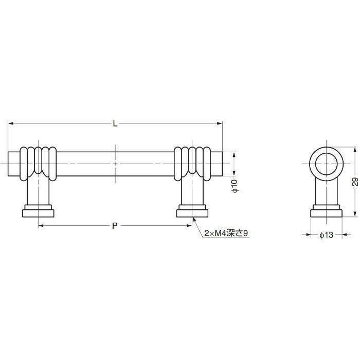 JADOハンドル258型 258-096-016 100-016-330