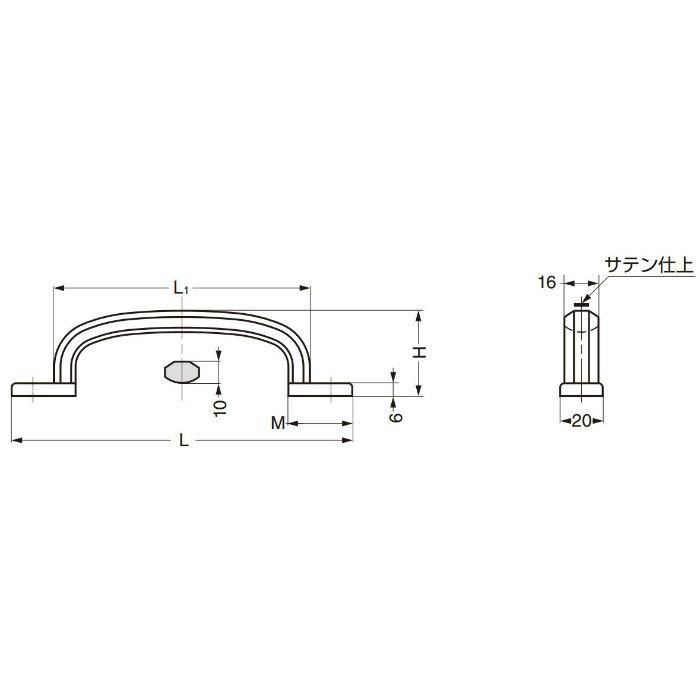 ランプ印ステンレス鋼製ハンドルXL-CUY型 XL-CUY260TT 100-012-839