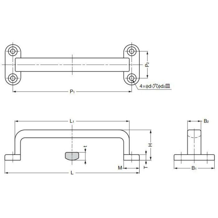 ランプ印ステンレス鋼製フィニッシュハンドルFT型 FT-120 100-010-067