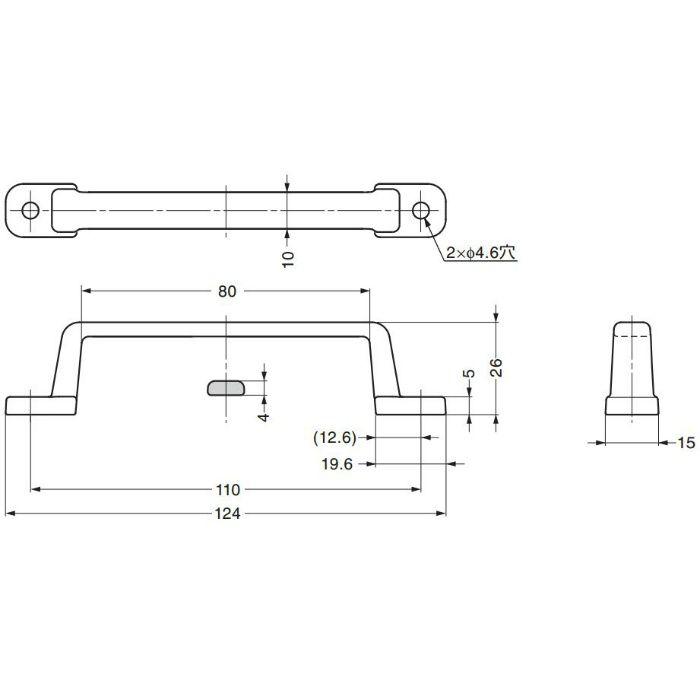ステンレス鋼製ハンドルFT-110S FT-110S 100-019-029