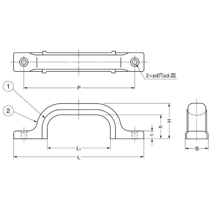 ランプ印ステラアップハンドルUS型 US-160M 100-012-242