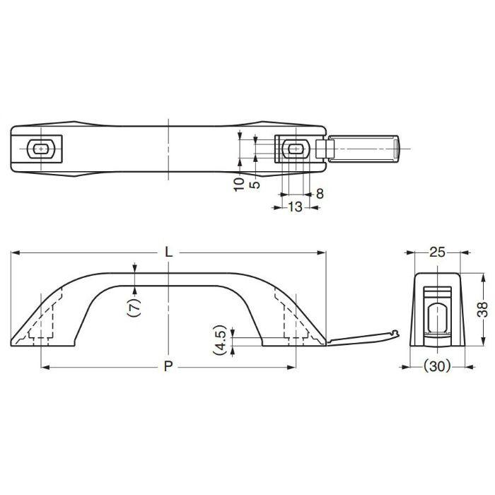 プラスチックハンドルWB-130357 WB-130357 100-012-911