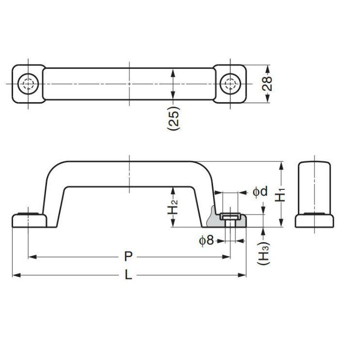 鉄芯入りプラスチックハンドルWB-900405 WB-900405 100-012-913