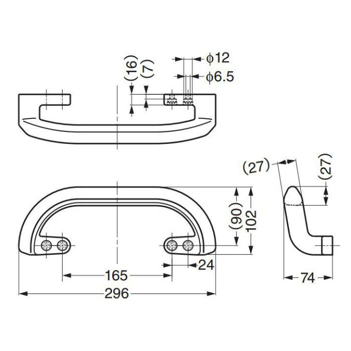 鉄芯入りプラスチッククラブハンドルWB-901225 WB-901225 100-012-914