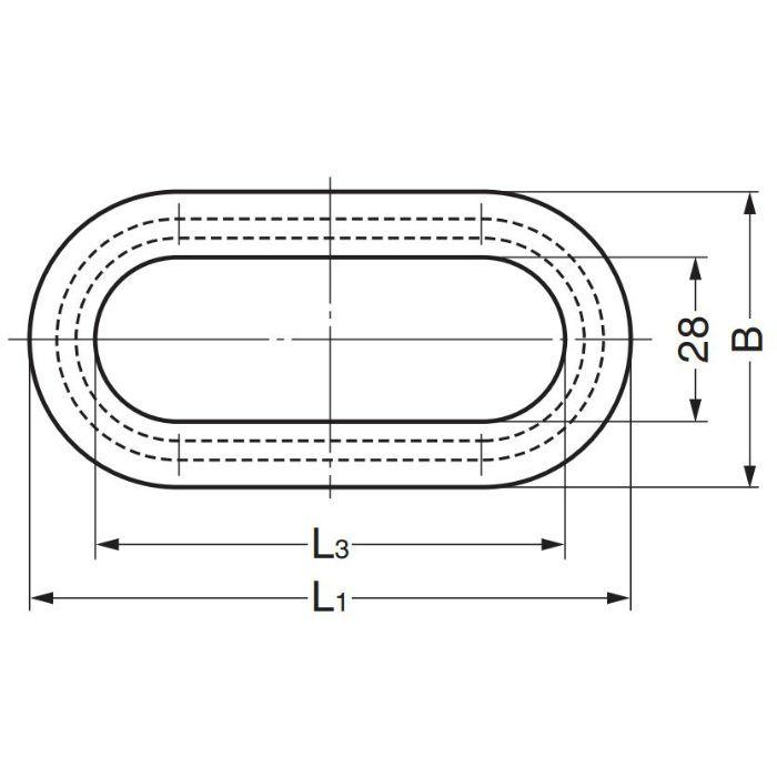dLineステンレス鋼(SUS316)製戸引手14-3950型 14-3950-02-105 100-012-708