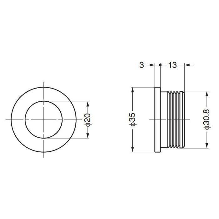 堀込引手CO853型 CO853-CR 100-016-803