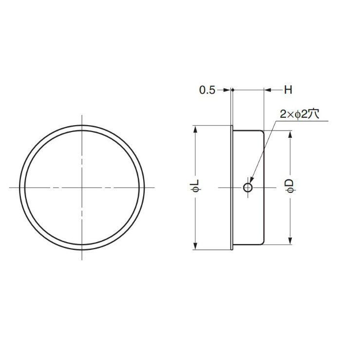 ランプ印ステンレス鋼製丸戸引手SMH型 SMH-80 100-010-188