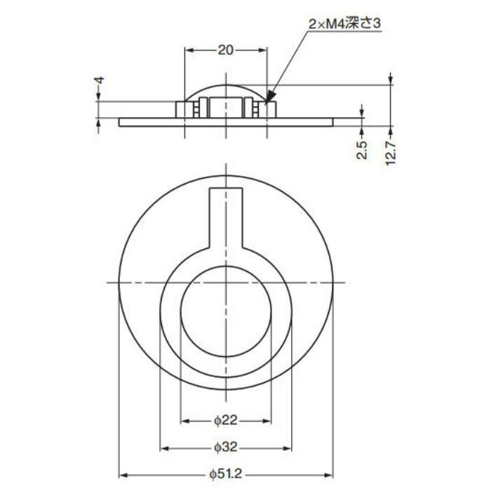 真鍮ハンドル580型 580-WB 100-016-025