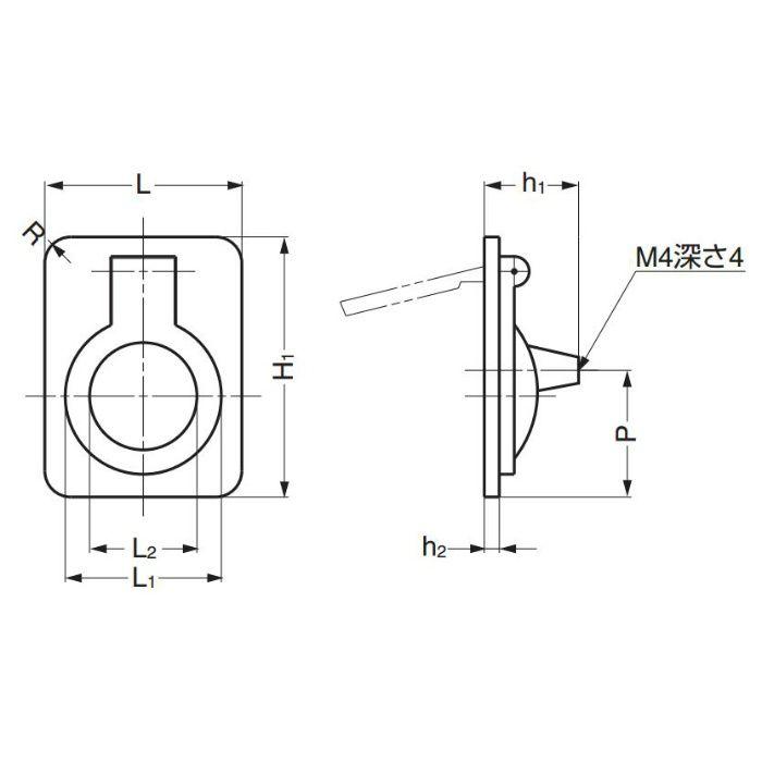 真鍮ハンドル587型 587-60WB 100-016-018