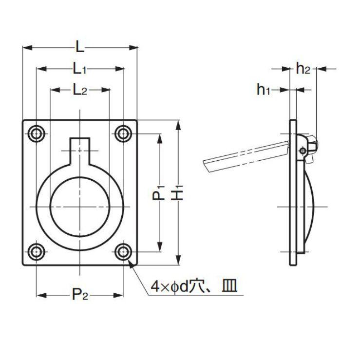 真鍮ハンドル587B型 587B-60WB 100-016-020