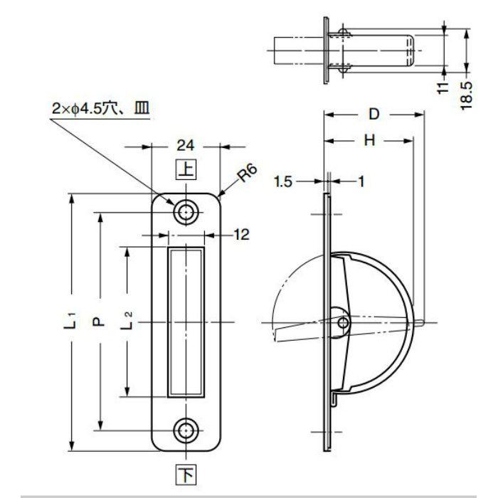 ランプ印ステンレス鋼製回転取手HR-RS型 HR-90RS 100-019-058