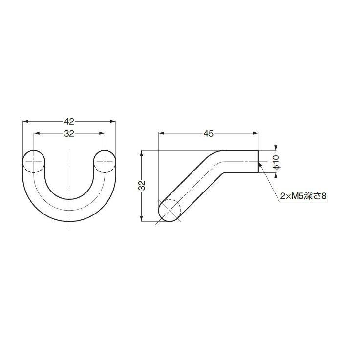dLineステンレス鋼(SUS316)製ハンドル14-3852-02-041 14-3852-02-041 100-017-645