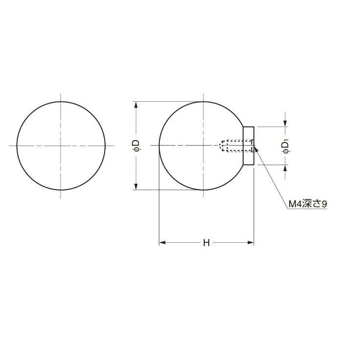 ステンレス鋼製つまみ83型 8361-037 100-012-690