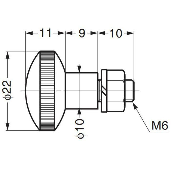 ローレットつまみSRT-L6-10S SRT-L6-10S 100-010-160