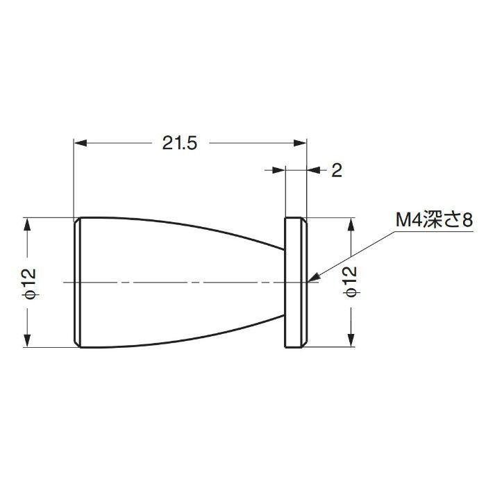 ステンレス鋼製つまみI2006012 I2006012 100-012-966