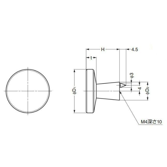 ランプ印丸つまみTS型 TS-25 100-010-001