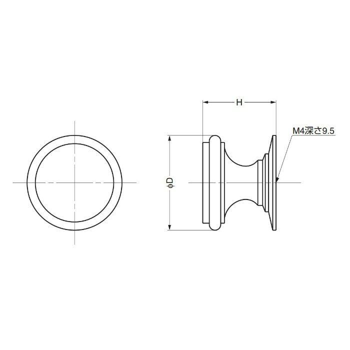 ランプ印つまみSY型 SY-16WB 100-012-032