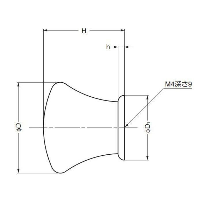 ランプ印つまみKK-T型 KK-T28SBR 100-012-910