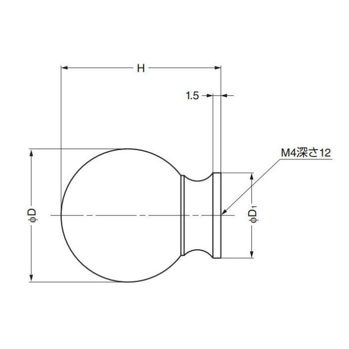 ランプ印つまみKK-B型 KK-B20SNI 100-012-881