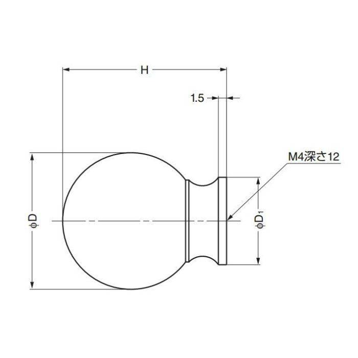 ランプ印つまみKK-B型 KK-B25SBR 100-012-886