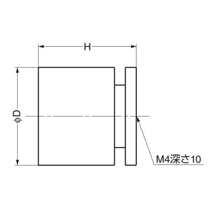 真鍮つまみKHE107型 KHE107-25PB 100-016-318