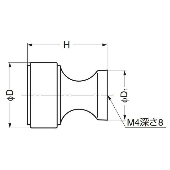 真鍮つまみKHE111型 KHE111-16PB 100-016-319