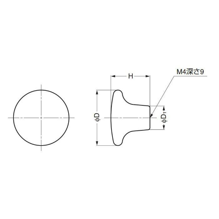 ランプ印ポタリー丸つまみ217F 217F 100-012-095