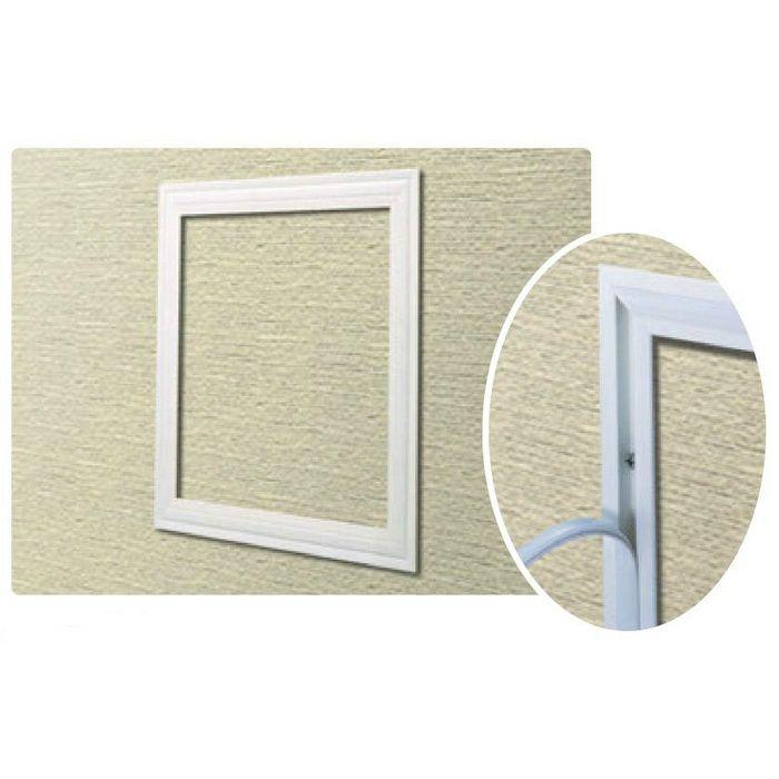 CHW300-12 ホワイトアルマイト アルミ 天井・壁用点検口枠 12.5mm用 62278