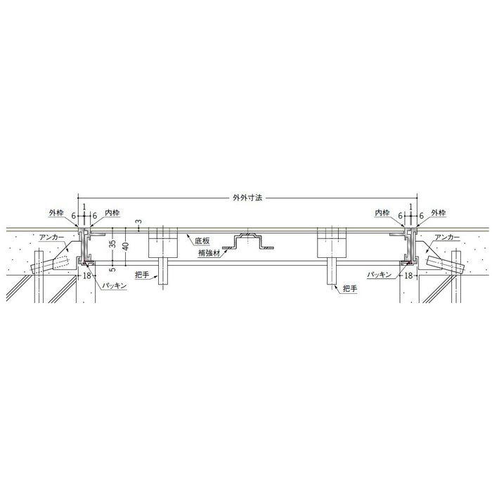 フロアリーフ NF-450 シルバー 床下点検口 62702