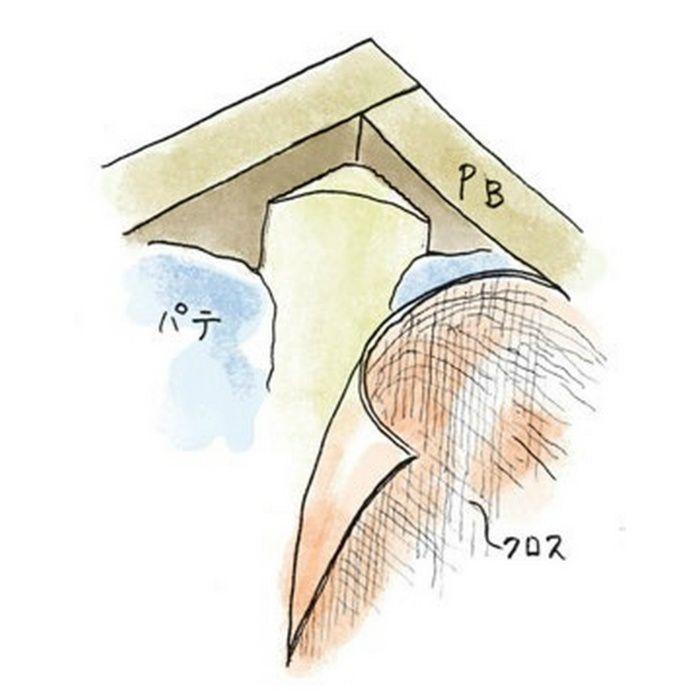 ペンキ・クロス下地材 入隅 ビニール 入隅コーナー30R オフホワイト 2.73m  01271