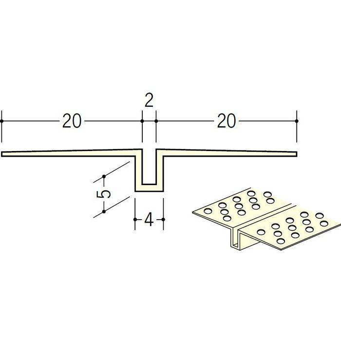 ハット目地2×5穴あき ミルキー 2.5m 35217-1
