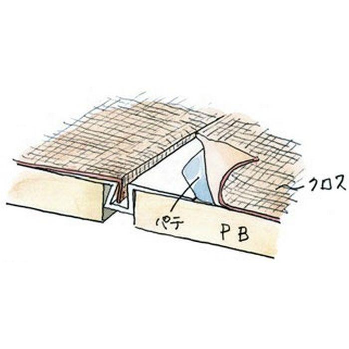 ハット目地3×5穴あき+テープ付 ミルキー 3m 37168-2