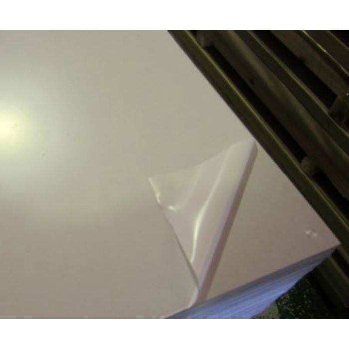 アルミ板 生地材 3.0mm厚 1250mm×2500mm A1100 H24 片面ビニル養生(高強度)