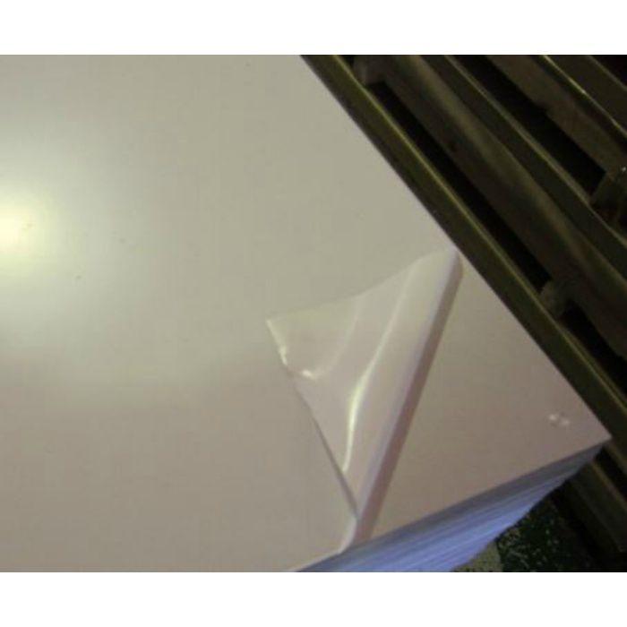 アルミ板 生地材 0.4mm厚 1000mm×2000mm A1050 H14 両面ビニル養生(高強度)