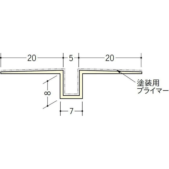 ハット目地5塗装プライマー付 ミルキー 3m 37139-2