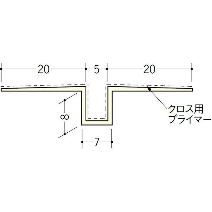 ハット目地5クロス用プライマー付 ミルキー 2.5m 37171-1