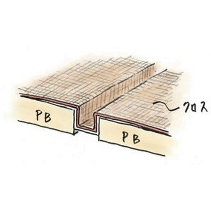 ハット目地6×5テープ付 ミルキー 2.5m 35222-1