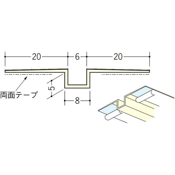 ハット目地6×5テープ付 ミルキー 3m 35222-2