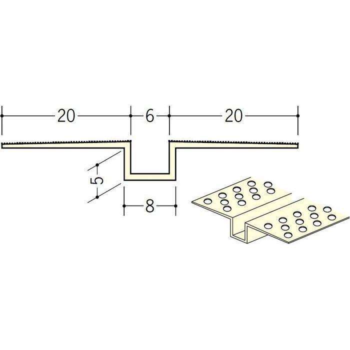 ハット目地6×5穴あき ミルキー 2.5m 35223-1