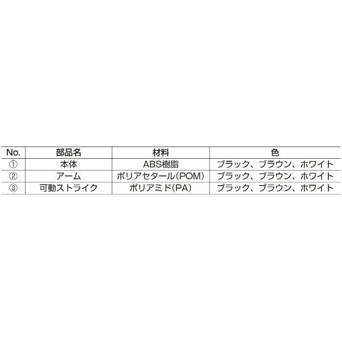ランプ印プッシュラッチMC-37F MC-37F-BK 140-058-064