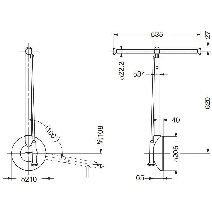 ランプ印リフトコートハンガートールマンTAT型Tタイプ TAT-550R-G 1セット 110-020-164