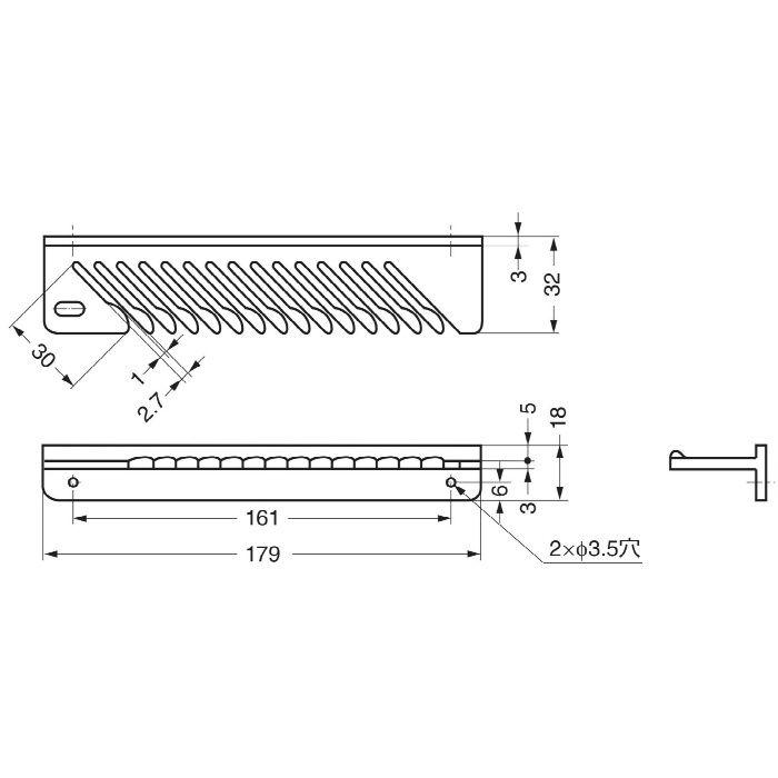 ランプ印タイメートミニTIEM型ネクタイ15本掛 TIEM-BR 110-020-124