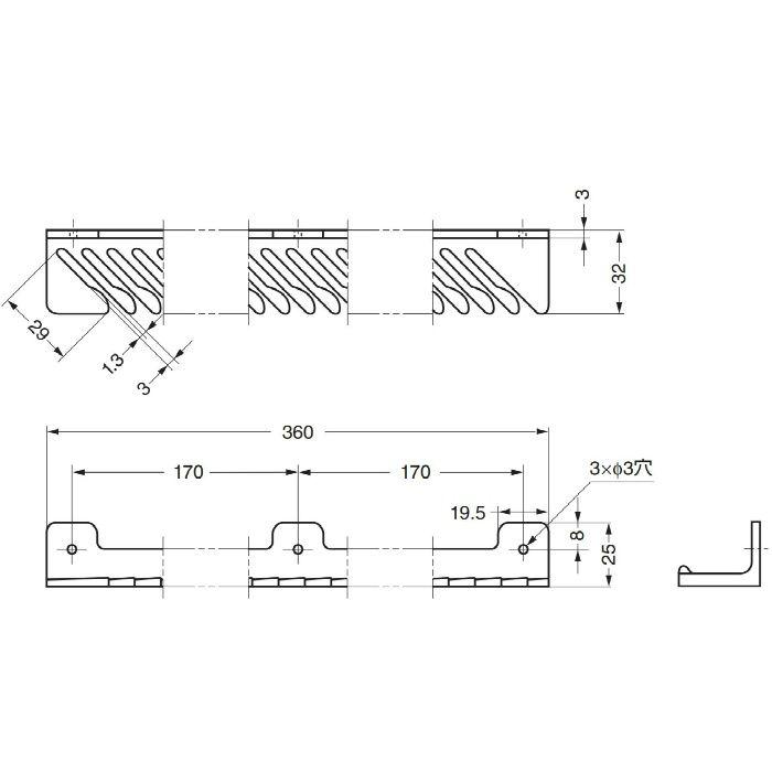 ランプ印タイメートTIE-33型ネクタイ33本掛 TIE-33BR 110-020-126