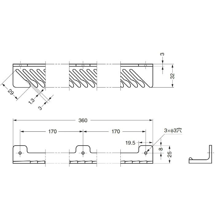 ランプ印タイメートTIE-33型 ネクタイ33本掛 TIE-33I 110-020-127